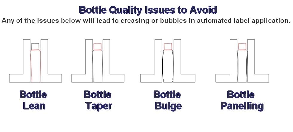 glass bottle labeling